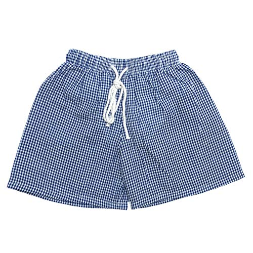 MONOBLANKS Baby Boys Seersucker Swim Trunks,Toddler Boys Family Shorts Bathing Suit Can be Monogrammed (2/3t, Navy)