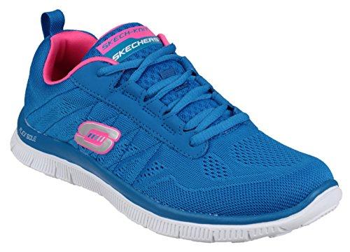 Skechers SK11729 Flex Appeal - Sweet Spot Sportschuhe Blue/Hot Pink