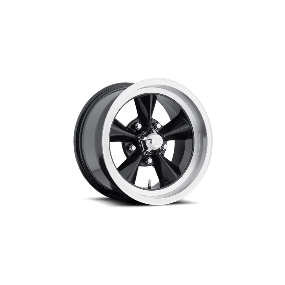 15 inch 15x7 US Mag U106 black machined wheel rim; 5x4.5 5x114.3 bolt pattern with a  6 offset. Part Number U10615706537