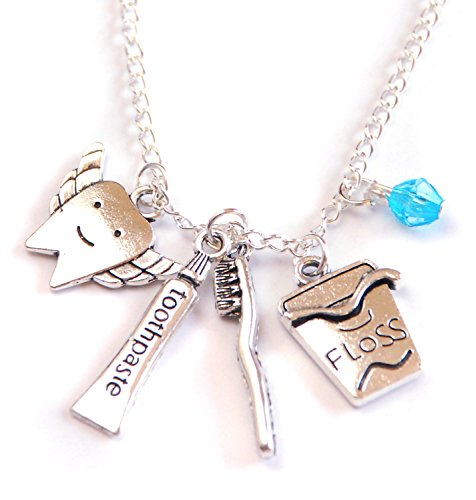 JCW Dental Hygienist Gift Tooth Fairy Charm Necklace