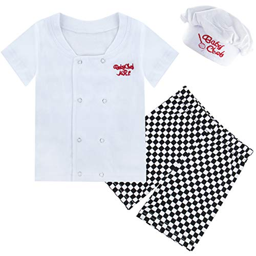COSLAND Toddler Baby Boys' Chef Short Sleeve Costume