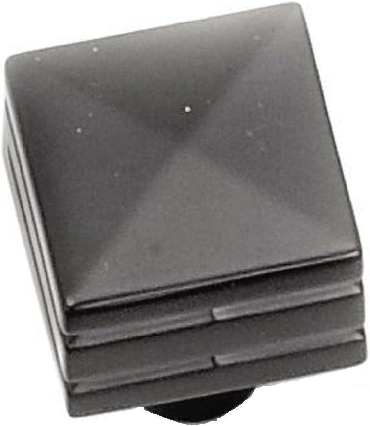 Laurey 23220 Cabinet Hardware 7/8-Inch Square Knob, Matte Black