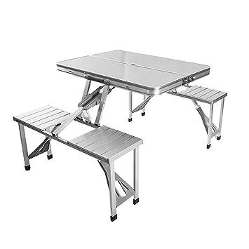 SKYSC - Juego de mesa y sillas plegables al aire libre para ...