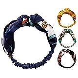 A-baiya Women Headband Fashion Cute Hair Band(Black+Blue)