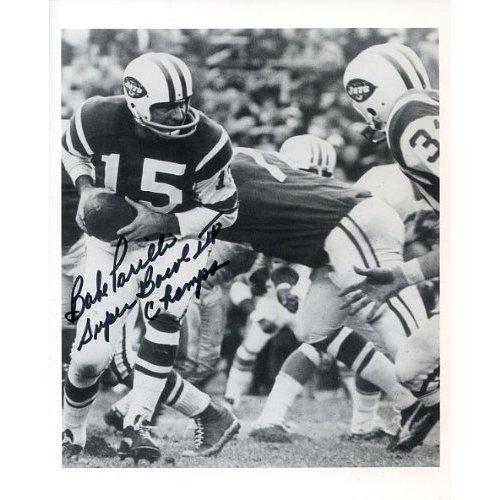 Babe Parilli Autographed/Original Signed Super Bowl 8x10 Photo with Inscription