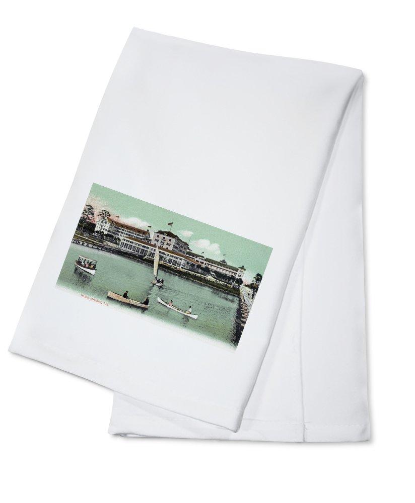 Ormond, Florida - Hotel Ormond Exterior View (100% Cotton Kitchen Towel)