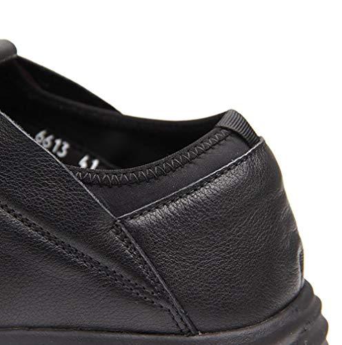 Scarpe Scarpe Da Passeggio Singole Sportive Traspirante Da Slip Scarpe In 43 Uomo Traspirante Scarpe Soft Calzature Casual Black Pelle qH6qRzB
