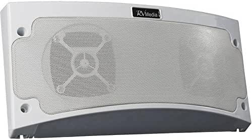 KING RVM2000 Premium Bluetooth Outdoor Speaker with Multi-Color LED Light and App Control - White