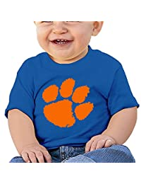 GUC Baby's T-shirts-Clemson University Tiger Paw Logo RoyalBlue