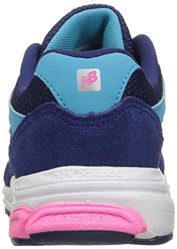 New Balance kj888 V1 Grado Zapatilla de Running (Big Kid) Azul/Rosado