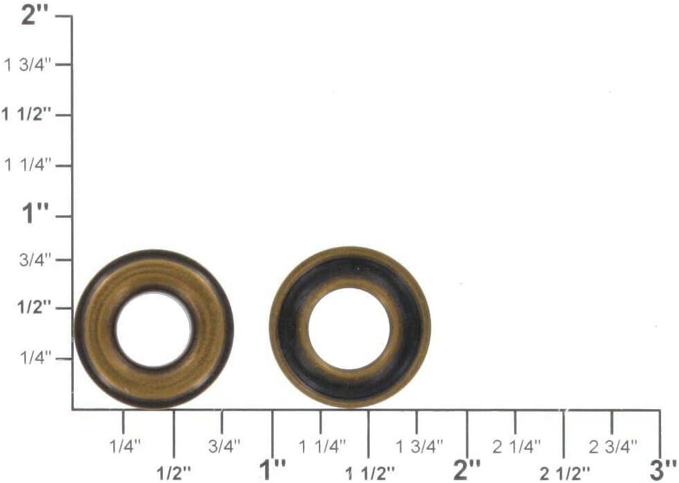 Antique Brass #2 100 per Bag Solid Brass-LL Grommet 3//8 Eyelet