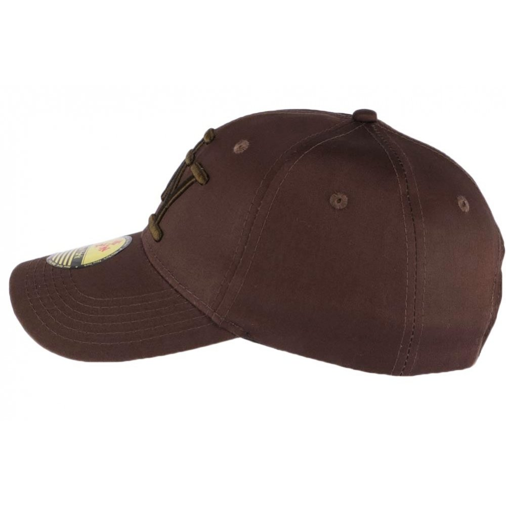 400e25001c12 Hip Hop Honour Casquette Baseball NY Marron Chocolat en Coton Brillant Shiny  - Mixte  Amazon.fr  Vêtements et accessoires