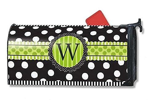 MailWraps Frolic Monogram 'W' Mailbox Cover (Metallo Monogram)