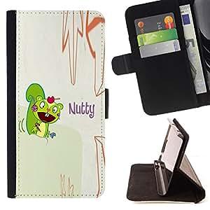 BullDog Case - FOR/LG Nexus 5 D820 D821 / - / squirrel mad funny quote cartoon drawing /- Monedero de cuero de la PU Llevar cubierta de la caja con el ID Credit Card Slots Flip funda de cuer