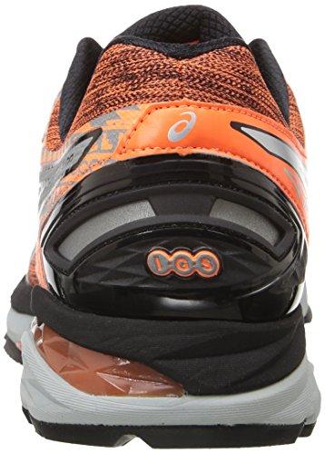 Asics Mens Gt-2000 4 Lite-show Pg Chaussure De Course Chaude Orange / Argent / Noir