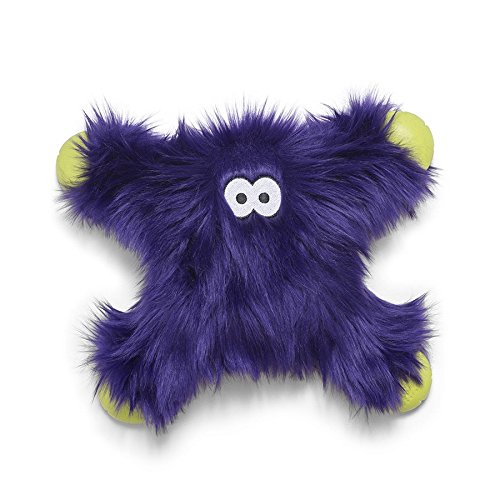 - West Paw Rowdies with HardyTex and Zogoflex, Durable Plush Dog Toy for Medium to Large Dogs, Lincoln, Purple Fur