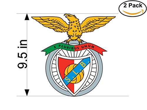 Benfica Portugal Soccer Football Club FC 2 Stickers Car Bumper Window Sticker Decal Huge 9.5 inches by CanvasByLam