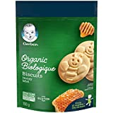 GERBER Organic Biscuits Honey, Baby Snacks, Biscuits, 10+ Months, 150 g, 6 Pack