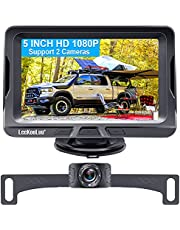 """LeeKooLuu G1 HD 1080P Backup Camera for Car with 5"""" Monitor, Rear View Camera for Car,Truck,Camper,Van Reversing/Driving Use,Support Add 2nd Camera for Baby Car Camera Latest Technology Version 2021"""