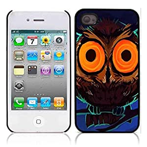 Owls Owl Cute Pattern Hard Plastic and Aluminum Back Case for Apple iphone 4 4S