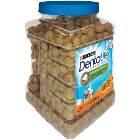 Purina DentaLife Tasty Chicken Flavor Dental Treats for Cats, 13.5 oz