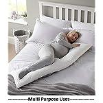 Tishnagi Designer Ultra Soft Body Pillow Long Side Sleeper Pillows for Use During Pregnancy – 100% Cotton Soft White…