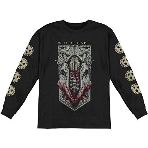 Whitechapel Mens Demon Wolf Black Long Sleeve Shirt XL