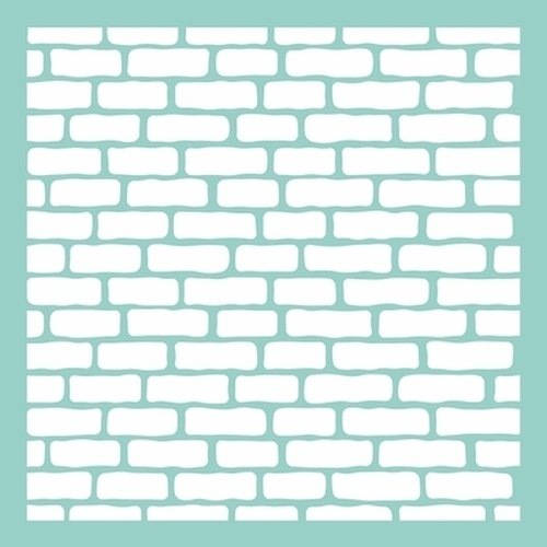 Kaisercraft T606 Scrapbooking Template, 12 by 12-Inch, Bricks by Kaisercraft