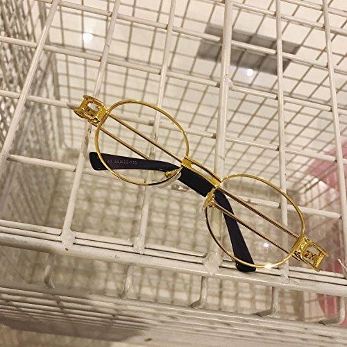 de rojo flat oro redondas metal mujer light hombre gafas gafas y Golden ceniza de literario de sol Steampunk redondo sol Espejo para VVIIYJ de WzBTSRq