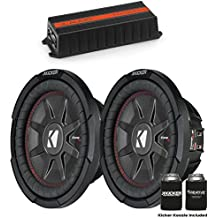 """JL Audio for Harley Saddle Bag - JL Audio 300 Watt HX300/1 Amp and Two Kicker CompRT 10"""" Subwoofers 43CWRT102"""