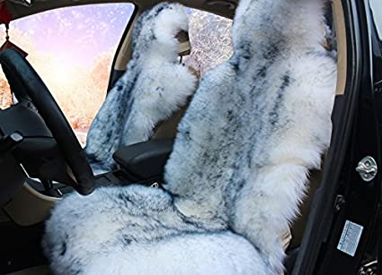 1pcs Faux Sheepskin Fur Car Seat Cover Universal Fit For Cars Suv