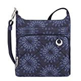 Travelon Women's Anti-theft Boho N/S Cross Body Bag, Geo Sunflower