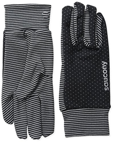 Saucony Women's Swift Gloves, Black/Heather Grey, Large