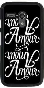 Funda para Motorola Moto G (Generation 1) - Amor De La Tipografía by wamdesign