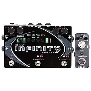 pigtronix spl infinity looper guitar effects pedal w mooer shim verb reverb pedal. Black Bedroom Furniture Sets. Home Design Ideas