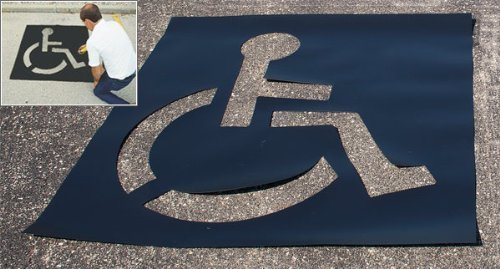 Medium size, Light Duty Parking Lot Handicap Stencil