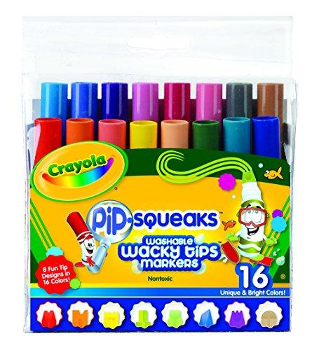 Crayola Pip-Squeaks Washable Wacky Tips Markers, (Pipsqueaks Washable Markers)