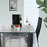 Eforcurtain Pebble Plastic Desk Protector 15 Gauge EVA Tablecloth Protector Waterproof Oblong, Clear, 54-inch By 54-inch
