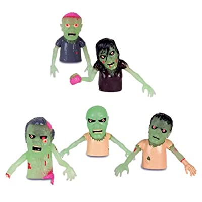 Accoutrements Educational Products - 1 GLOWING ZOMBIE FINGER PUPPET - ONE STYLE RANDOMLY PICKED: Toys & Games
