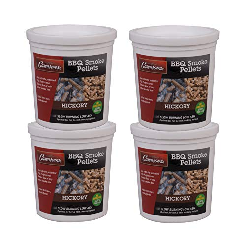 Camerons Smoking Wood Pellets (Hickory)- Kiln Dried BBQ Pellets- 100% All Natural Barbecue Smoker Fuel- Value Pack 4 Pints