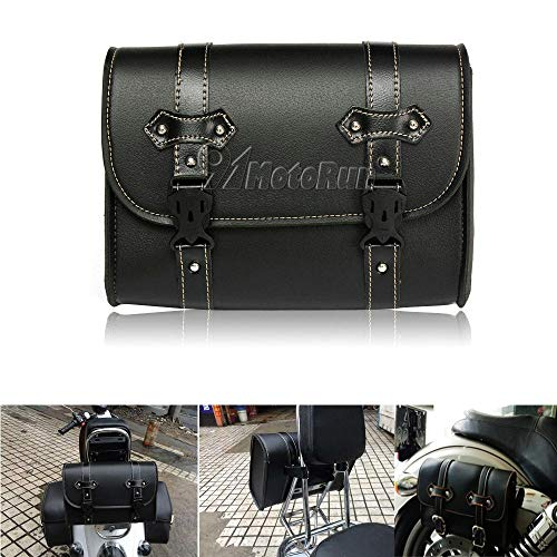REFIT Motorcycle Saddle Luggage PU Leather Tool Bag for Honda Shadow Spirit Aero VT750 VT1100 VTX1300/Kawasaki Vulcan 900 1500 1600