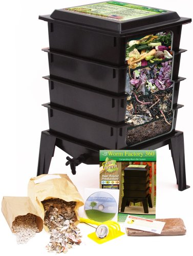 Worm-Factory-360-Composting-Bin-Black-With-1000-Live-Composting-Worms-By-Worms-Etc