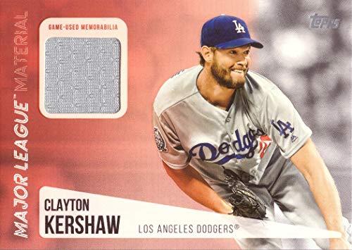 c9230ac8981 2019 Topps Relics  MLM-CK Clayton Kershaw Game Worn Dodgers Jersey Baseball  Card