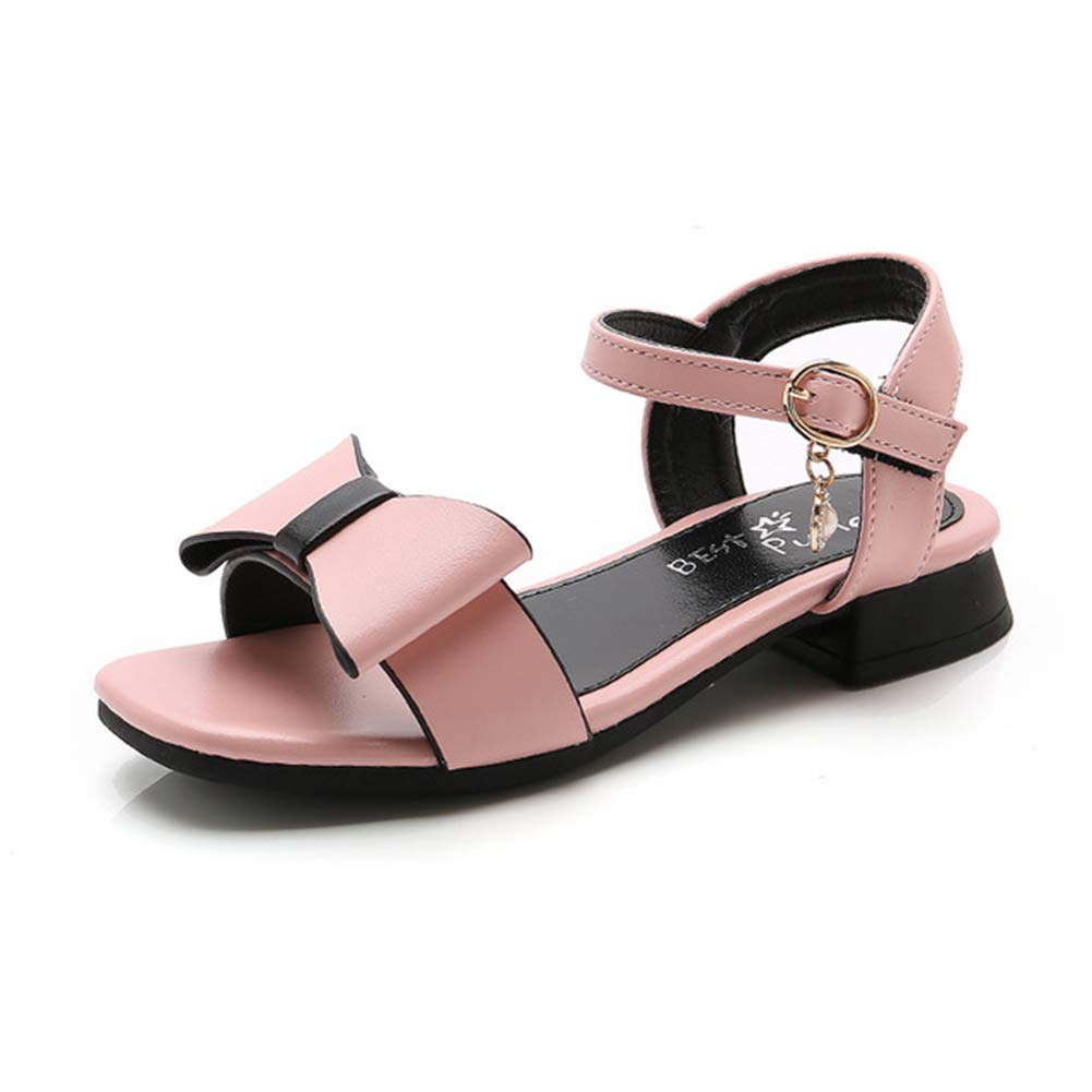 Tuoup Leather Cute Bowknot Stylish Jeweled Pearl Girls Sandals