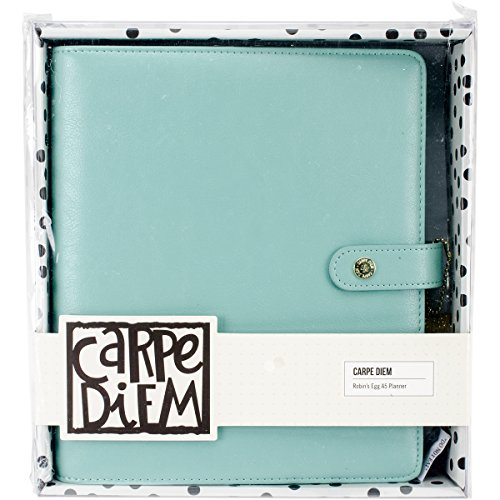 (Carpe Diem by Simple Stories A5 Planner Cover - Robins Egg)