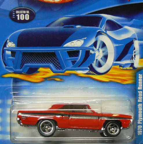 Roadrunner Car - #2001-100 1970 Plymouth Road Runner Collectible Collector Car Mattel Hot Wheels