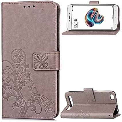 best cheap 4f38e 2a757 Amazon.com: Anzeal Xiaomi Redmi 5A Case, [Leaf Embossing] Leather ...