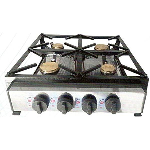 cocina industrial a gas 4 fuegos: Amazon.es: Industria ...