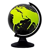 Desktop Rotating Globe Earth Black Ocean Geography World Table Décor 11.5''