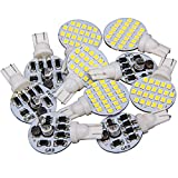 10 x Super Bright T10 921 194 Soft White 4.8w RV,Trailer,Camper Interior 24-3528 SMD Boat,landscaping,Wedge LED Light Bulb lamp DC 12V (Pack of 10)